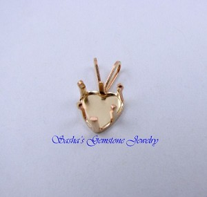 7 MM HEART 14 KT 1/20 GOLD FILLED SNAPTITE PENDANT