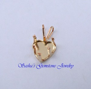 8 MM HEART 14 KT 1/20 GOLD FILLED SNAPTITE PENDANT