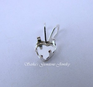 5 MM HEART STERLING SILVER SNAPTITE PENDANT