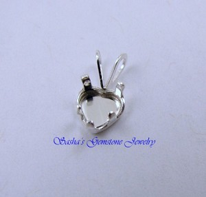6 MM HEART STERLING SILVER SNAPTITE PENDANT
