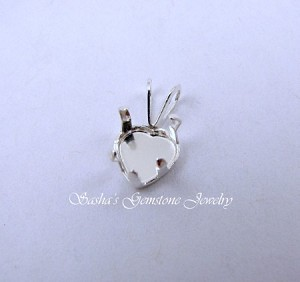 7 MM HEART STERLING SILVER SNAPTITE PENDANT