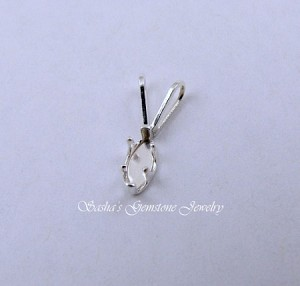 6 X 3 MARQUISE STERLING SILVER SNAPTITE PENDANT