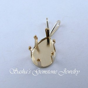 10 X 7 PEAR 14 KT YELLOW GOLD SNAPTITE PENDANT