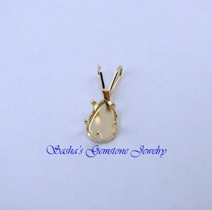 8 X 5 PEAR 14 KT YELLOW GOLD SNAPTITE PENDANT