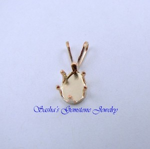 7 X 5 PEAR 14 KT 1/20 GOLD FILLED SNAPTITE PENDANT