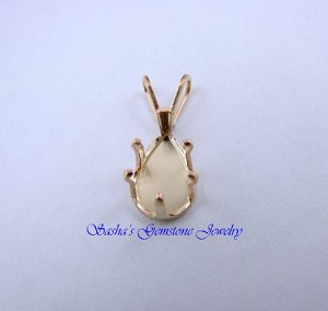 10 X 7 PEAR 14 KT 1/20 GOLD FILLED SNAPTITE PENDANT