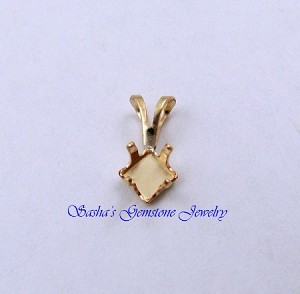 5 MM SQUARE 14 KT 1/20 GOLD FILLED SNAPTITE PENDANT