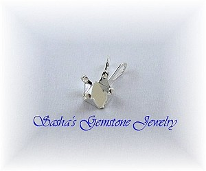 6 MM SQUARE STERLING SILVER SNAPTITE PENDANT