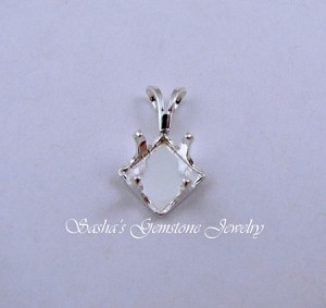 8 MM SQUARE STERLING SILVER SNAPTITE PENDANT