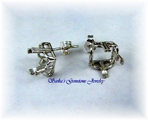 SQUARE REGALLE EARRING STUDS - SERIES 003-089